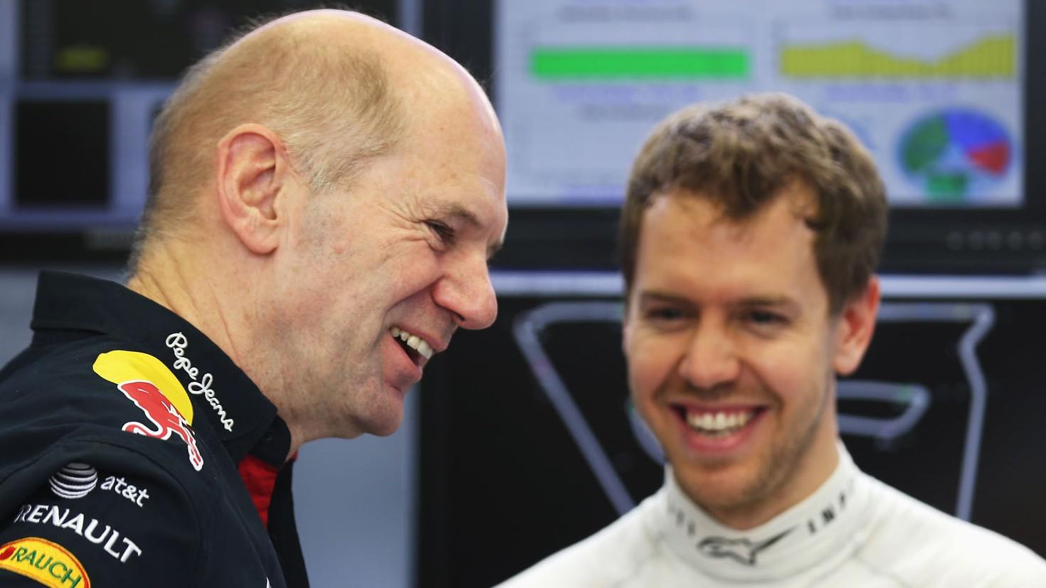Adrian Newey, Sebastian Vettel, Red Bull, Bahrain, 2014