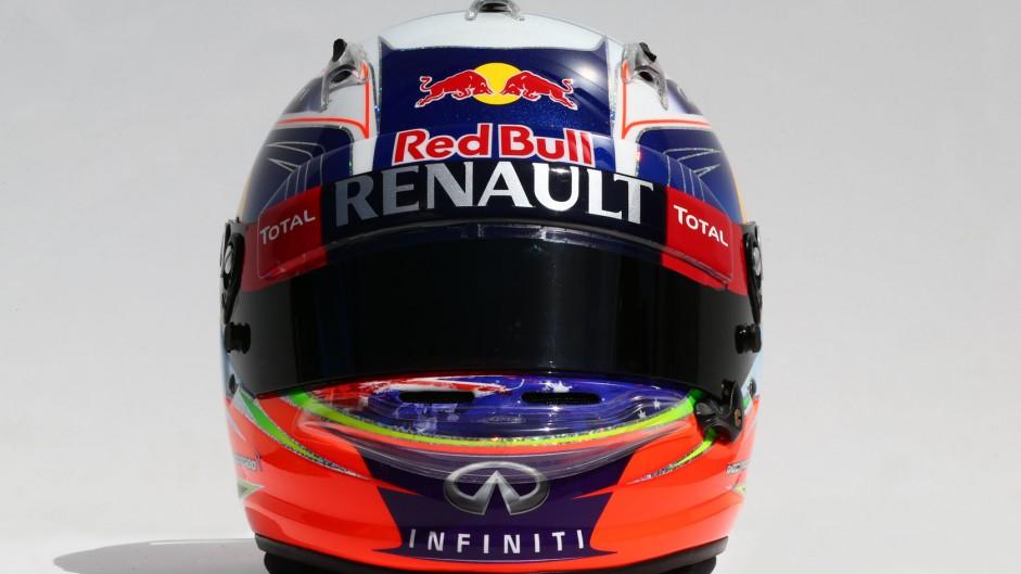 Daniel Ricciardo helmet, Red Bull, 2014
