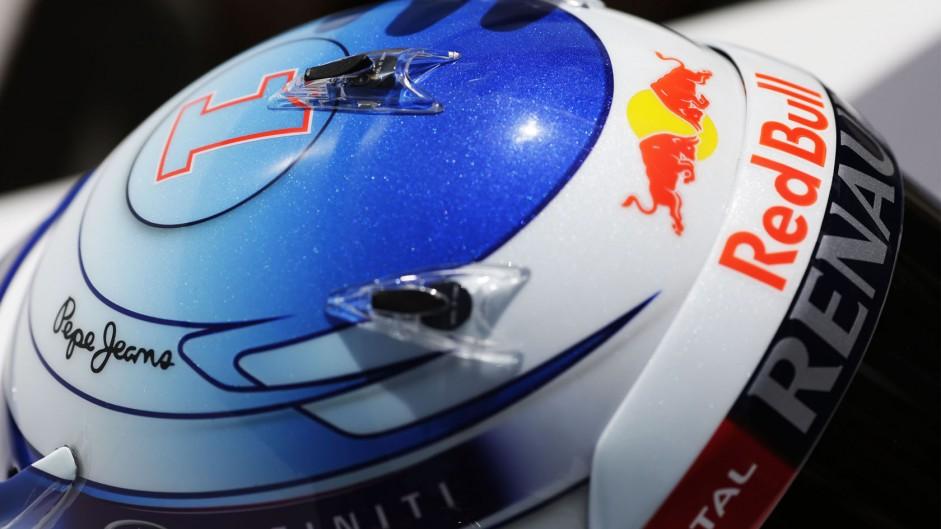 Sebastian Vettel helmet, Albert Partk, 2014
