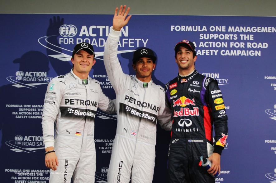 Nico Rosberg, Lewis Hamilton, Sebastian Vettel, Albert Park, 2014