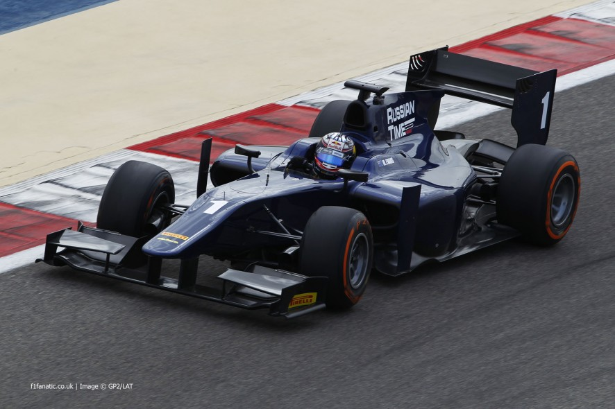 Mitch Evans, Russian Time, GP2, Bahrain, 2014