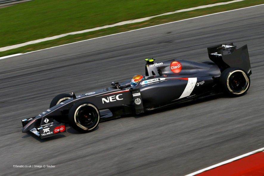 Esteban Gutierrez, Sauber, Sepang International Circuit, 2014