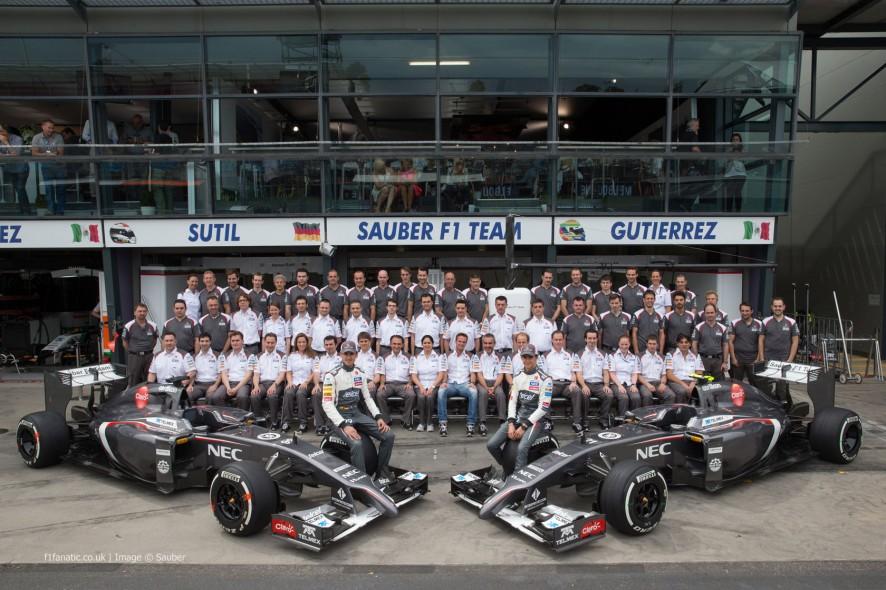 Sauber team, Albert Park, Melbourne, 2014