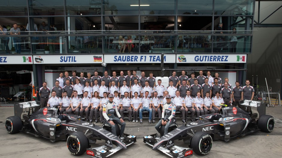 Sauber team, Albert Park, Melbourne, 2014