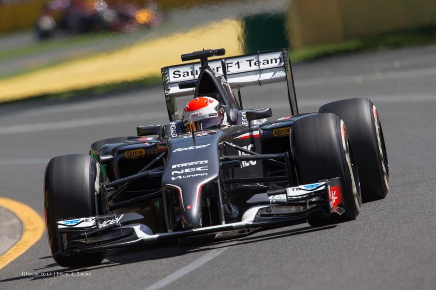 Adrian Sutil, Sauber, Albert Park, 2014
