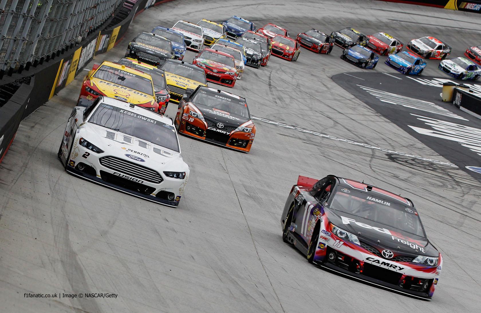 Brad Keselowski, Denny Hamlin, Bristol, NASCAR, 2014
