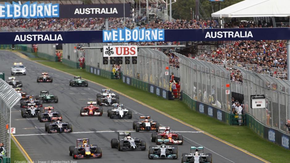 Start, 2014 Australian Grand Prix, Albert Park, Melbourne