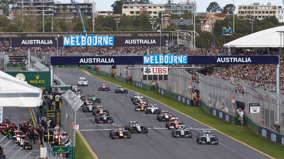 Start, 2014 Australian Grand Prix, Albert Park, Melbourne, 3