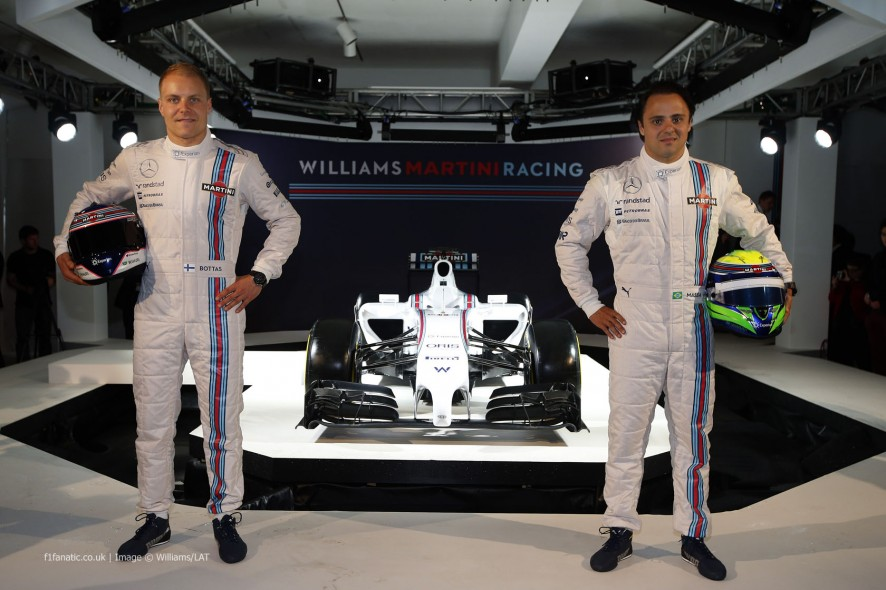 Valtteri Bottas, Felipe Massa, Williams FW36 livery reveal, 2014