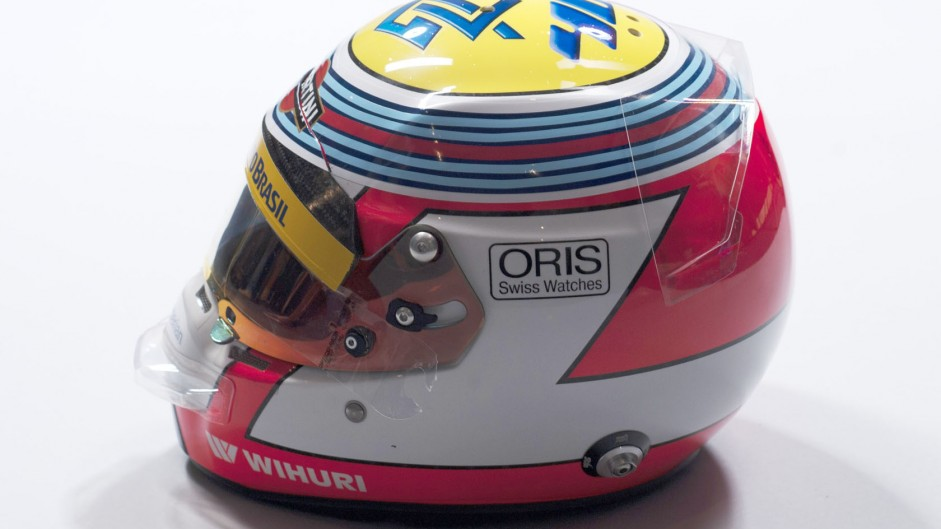 Felipe Nasr helmet, Williams, 2014