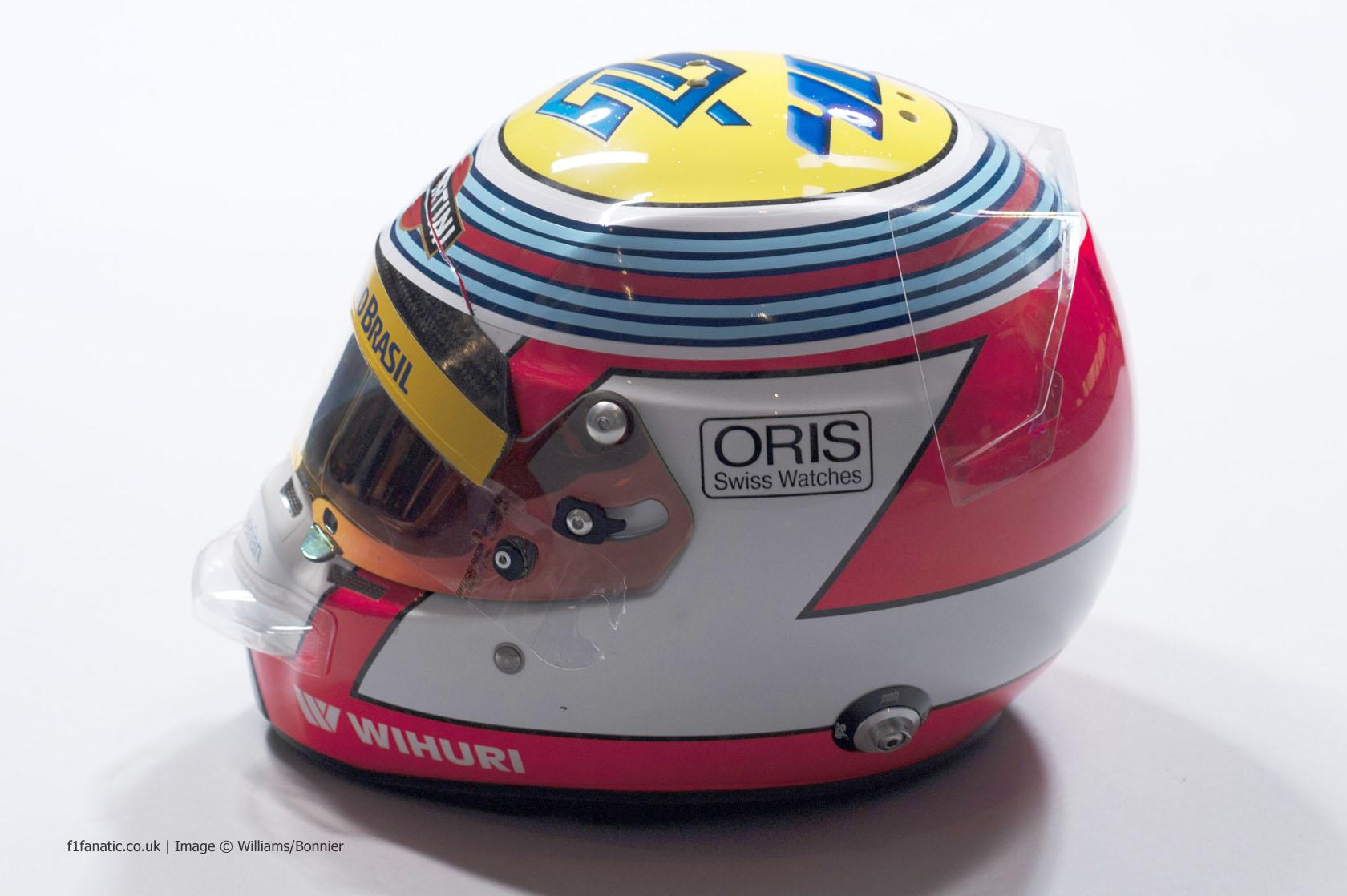 Felipe Nasr helmet, Williams, 2014