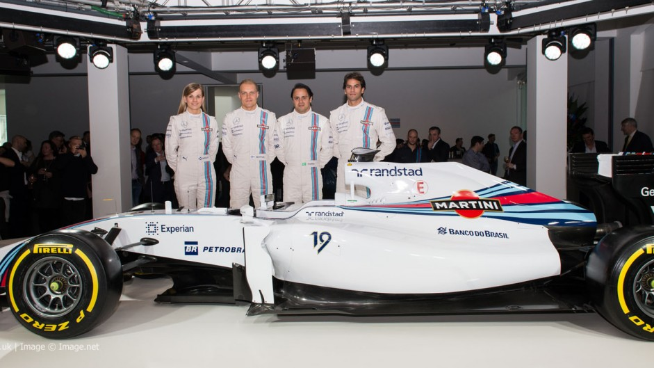Susie Wolff, Valtteri Bottas, Felipe Massa, Felipe Nasr, Williams FW36 livery reveal, 2014