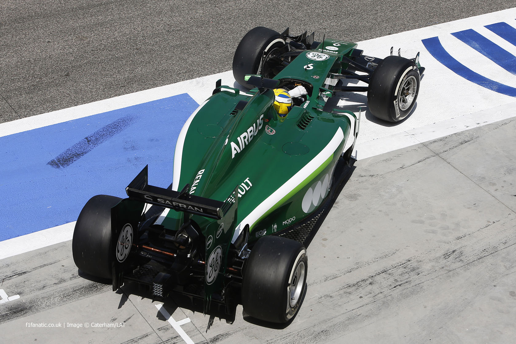 Marcus Ericsson, Caterham, Bahrain test, 2014