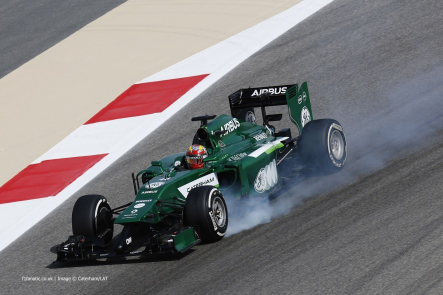 Robin Frijns, Caterham, Bahrain International Circuit, 2014