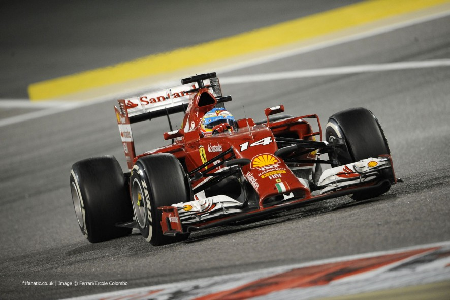 Fernando Alonso, Ferrari, Bahrain International Circuit, 2014