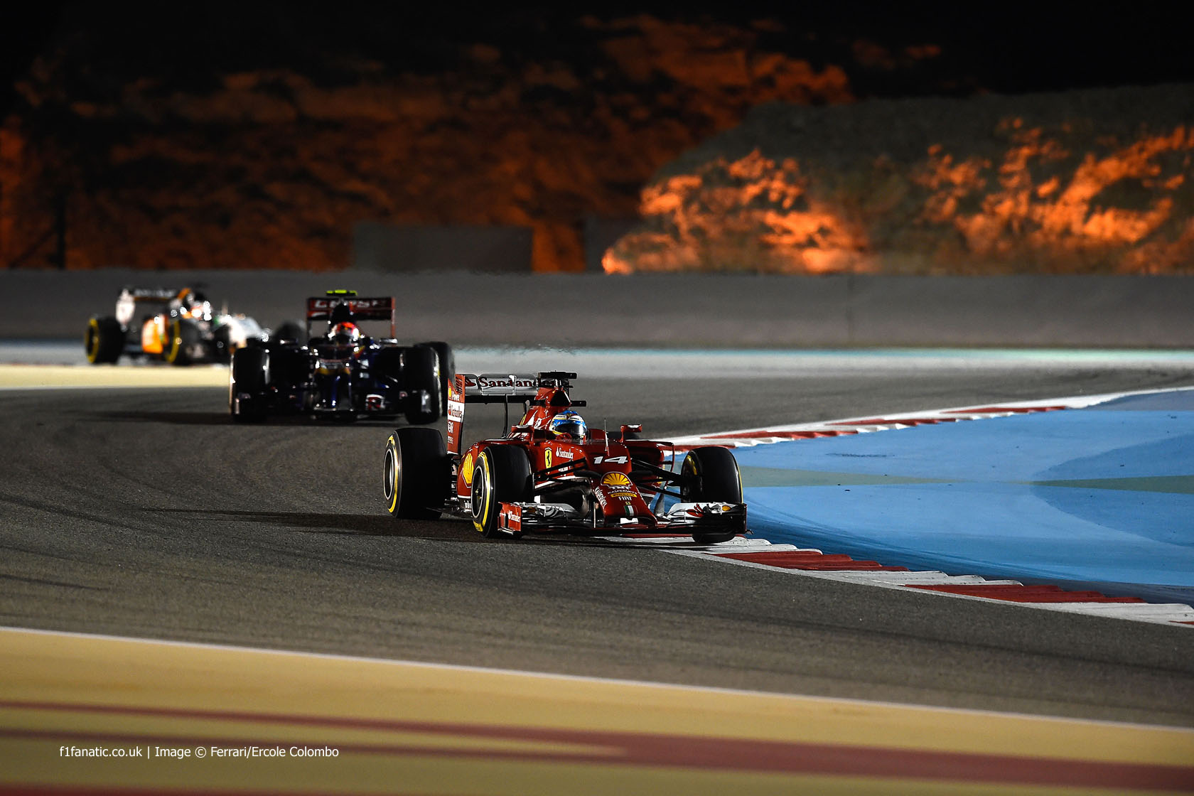 Fernando Alonso, Ferrari, Bahrain International Circuit, 2014
