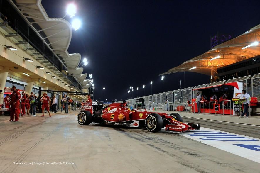 Fernando Alonso, Ferrari, Bahrain test, 2014