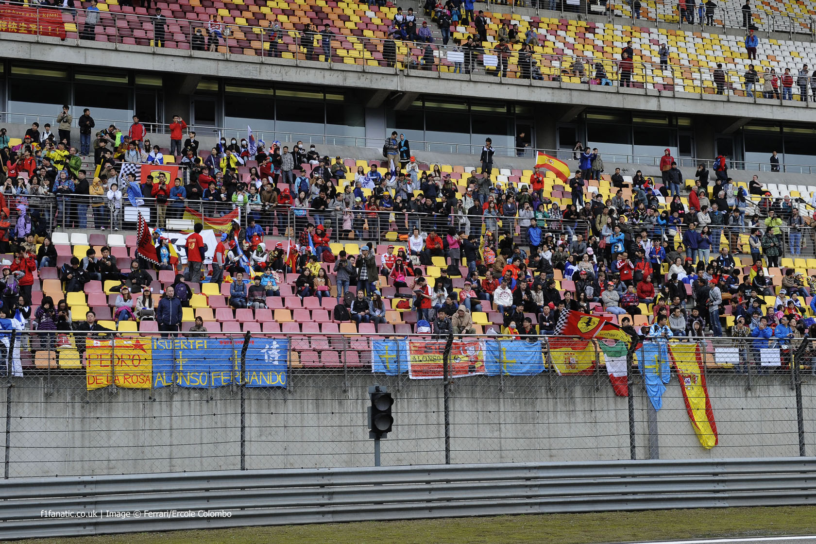 Ferrari fans, Shanghai International Circuit, 2014