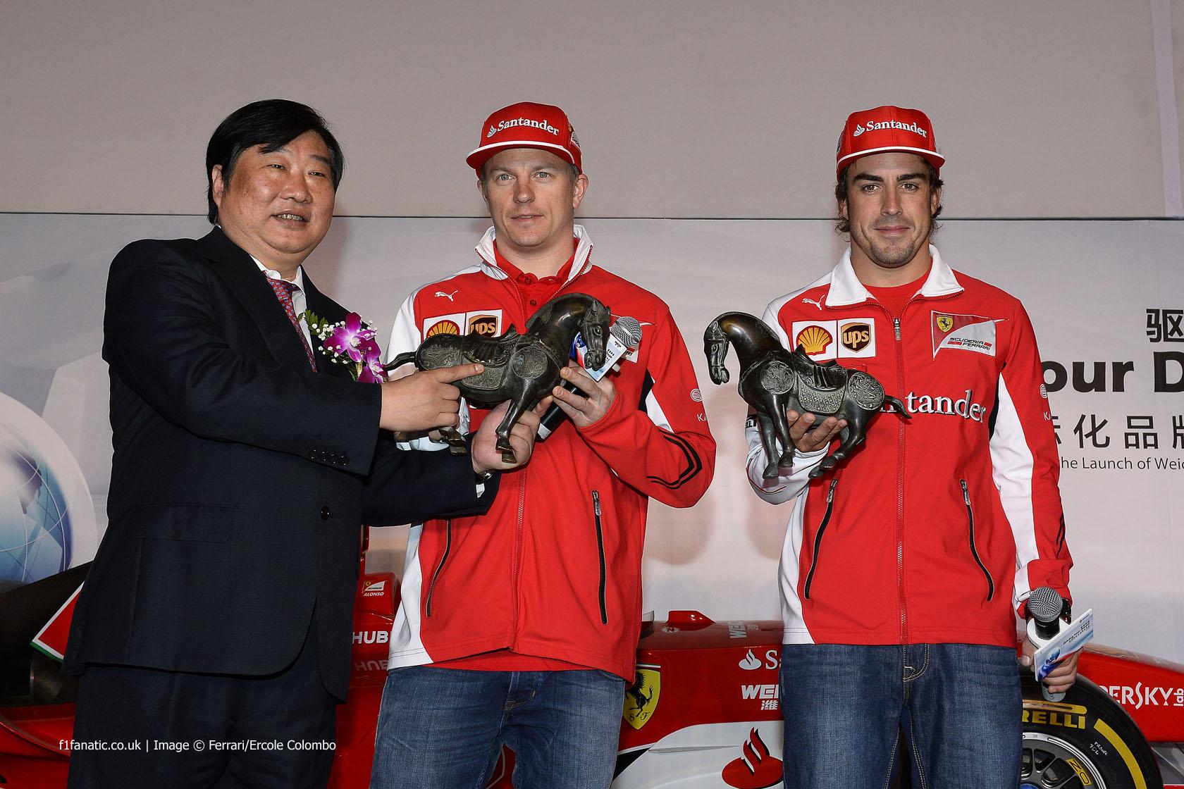 Kimi Raikkonen, Fernando Alonso, Ferrari, Shanghai International Circuit, 2014