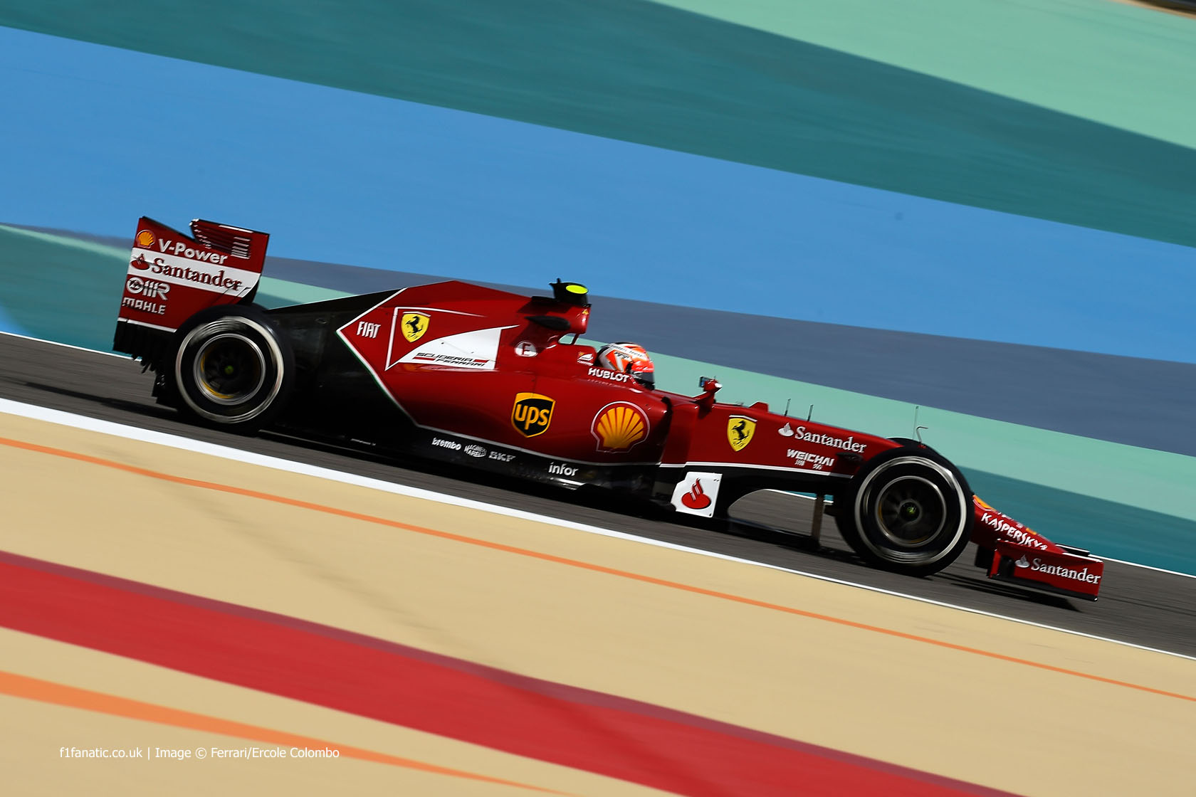 Kimi Raikkonen, Ferrari, Bahrain International Circuit, 2014