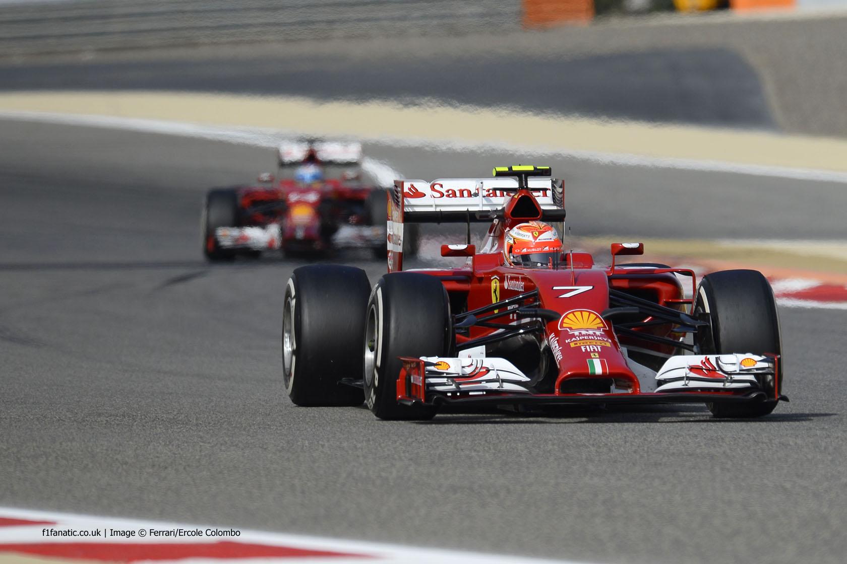 Kimi Raikkonen, Ferrari, Bahrain International Circuit, 2014