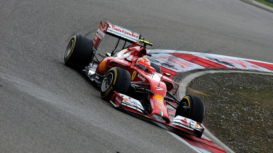 Kimi Raikkonen, Ferrari, Shanghai International Circuit, 2014