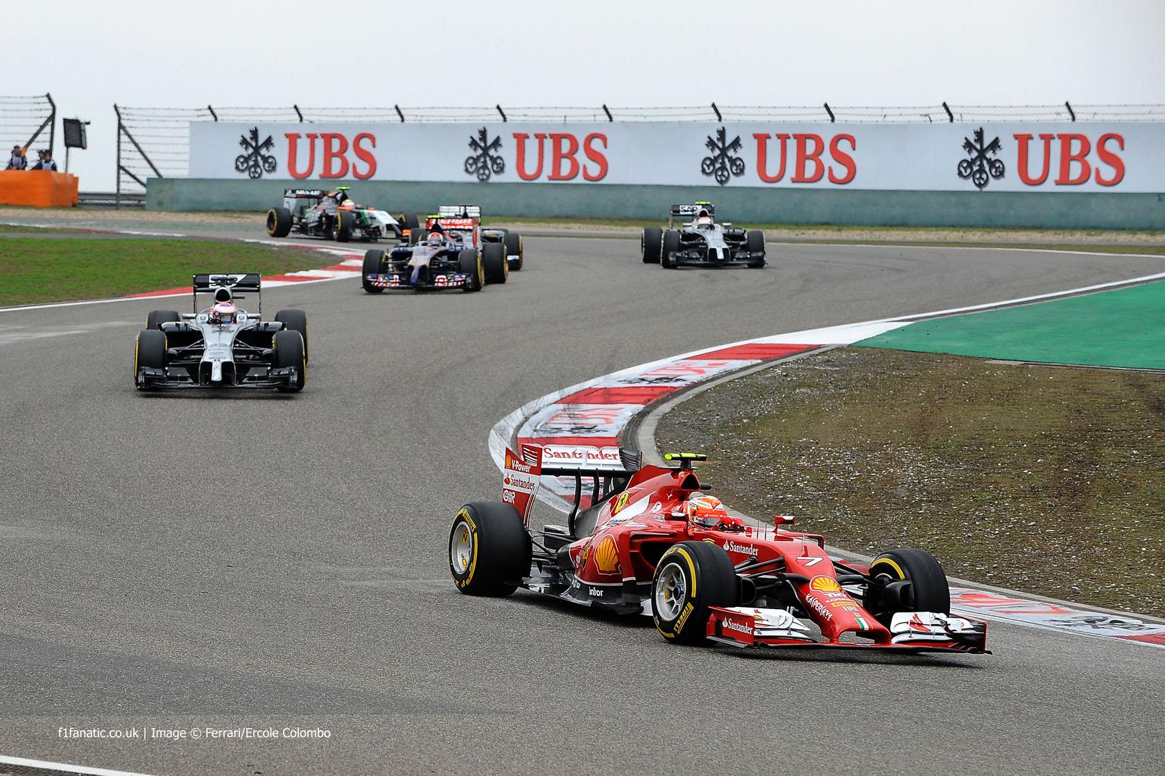 Kimi Raikkonen, Ferrari, Shanghai International Circuit, 2014