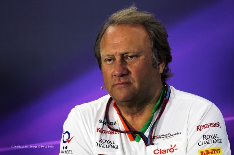 Bob Fernley, Force India, Bahrain International Circuit, 2014