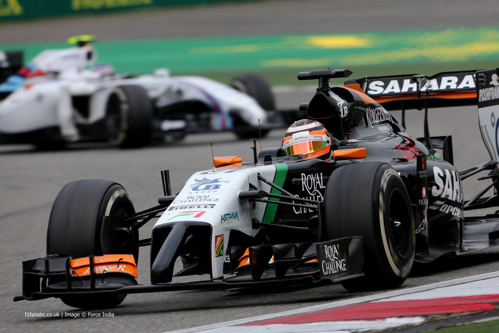 Nico Hulkenberg, Force India, Shanghai International Circuit, 2014