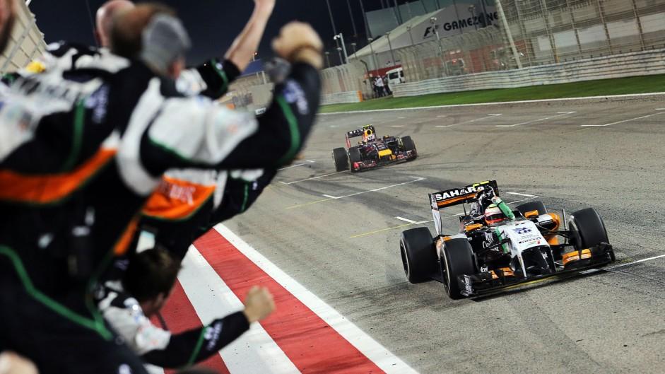 Sergio Perez, Force India, Bahrain International Circuit, 2014