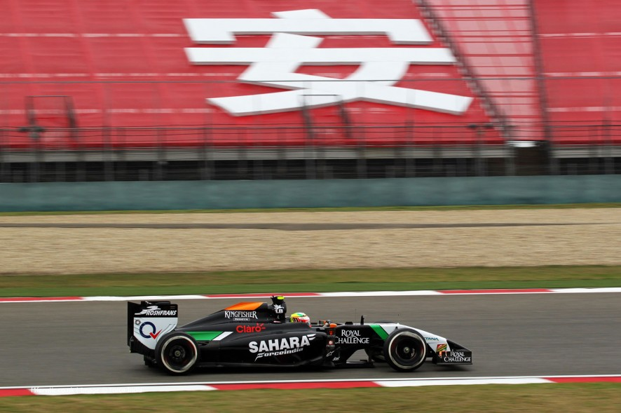 Sergio Perez, Force India, Shanghai International Circuit, 2014