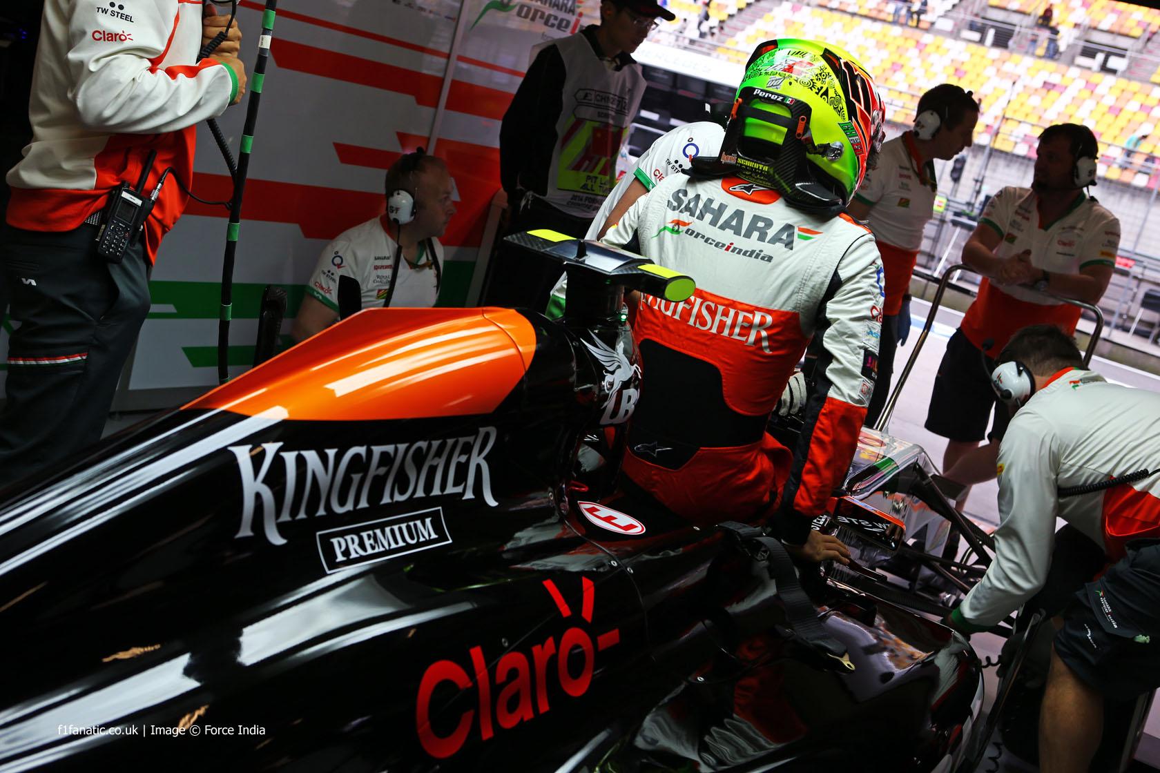 Sergio Perez, Force India, Shanghai International Circuit, 2014