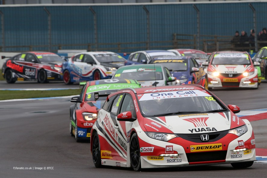 Gordon Shedden, Honda Civic, Donington Park, BTCC, 2014