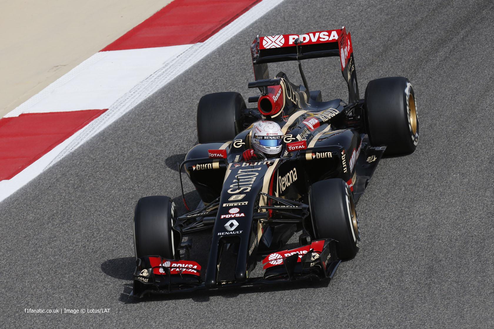 Romain Grosjean, Lotus, Bahrain International Circuit, 2014