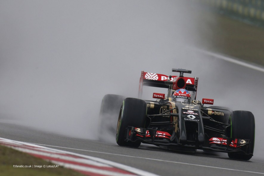Romain Grosjean, Lotus, Shanghai International Circuit, 2014