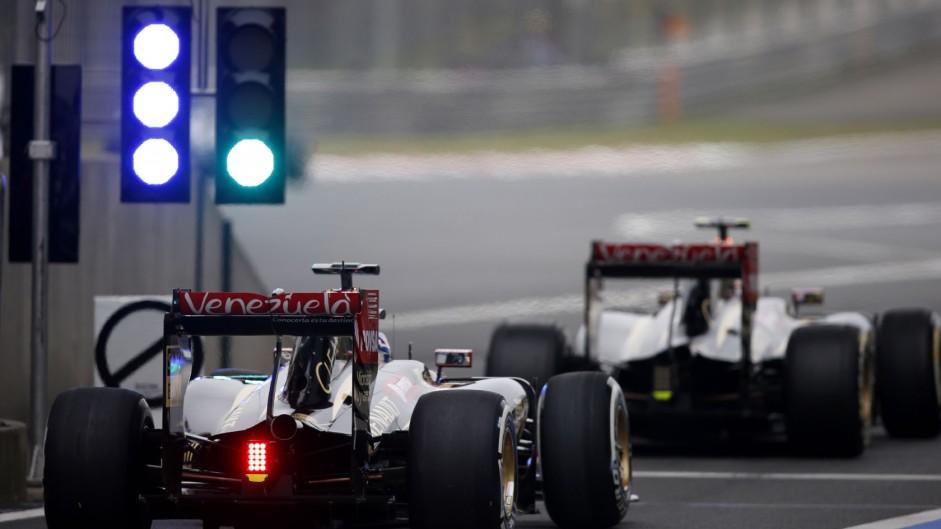 Romain Grosjean, Lotus, Shanghai International Circuit, 2014
