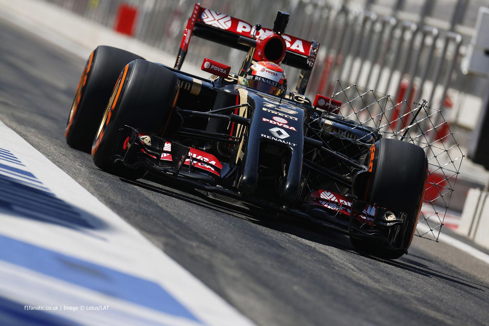 Pastor Maldonado, Lotus, Bahrain International Circuit, 2014