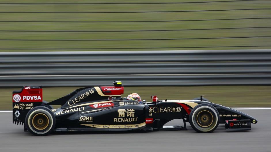 Pastor Maldonado, Lotus, Shanghai International Circuit, 2014