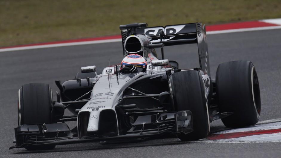 Jenson Button, McLaren, Shanghai International Circuit, 2014