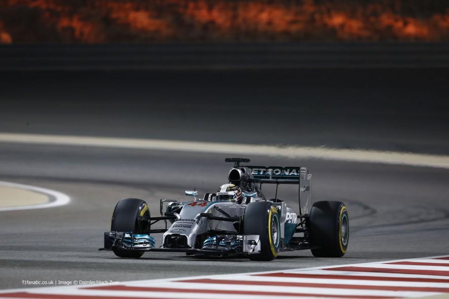 Lewis Hamilton, Mercedes, Bahrain International Circuit, 2014