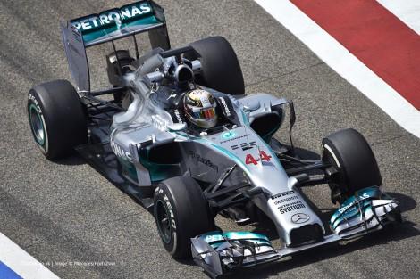 Lewis Hamilton, Mercedes, Bahrain test, 2014