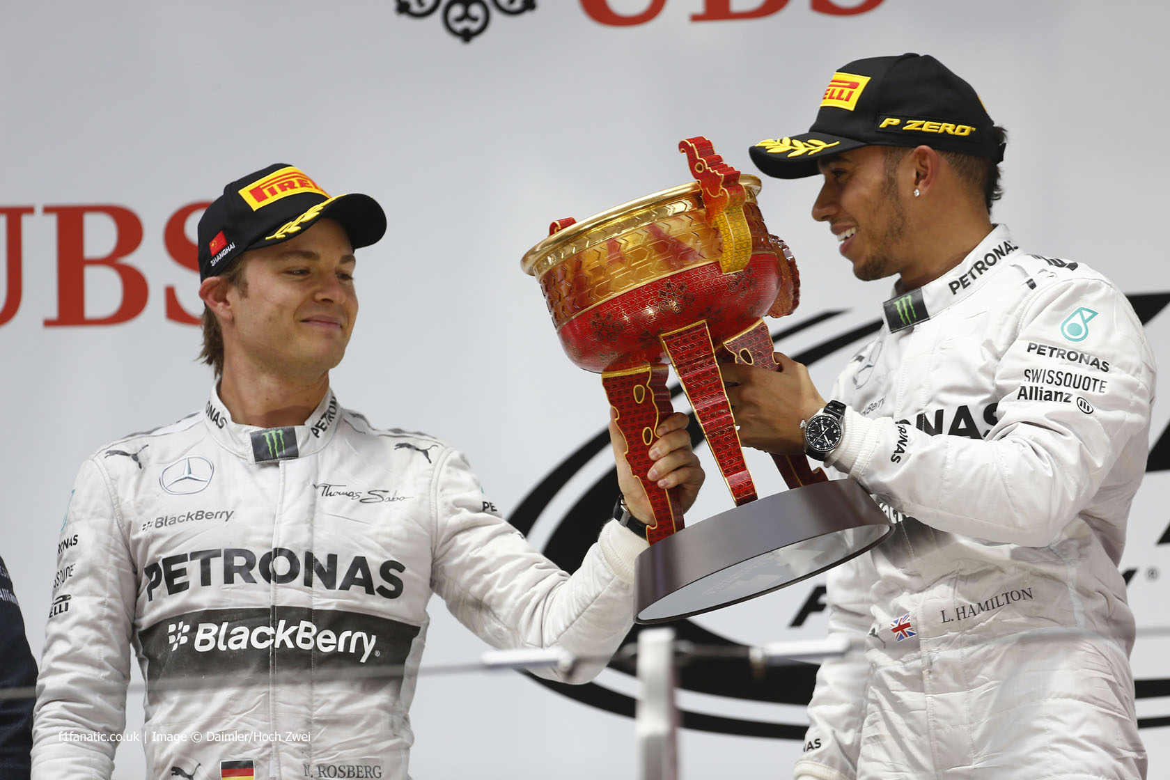 Lewis Hamilton, Nico Rosberg, Mercedes, Shanghai International Circuit, 2014