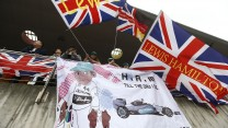 Lewis Hamilton fans, Mercedes, Shanghai International Circuit, 2014