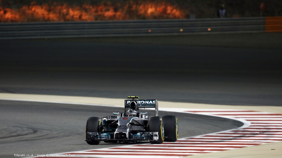 Nico Rosberg, Mercedes, Bahrain International Circuit, 2014