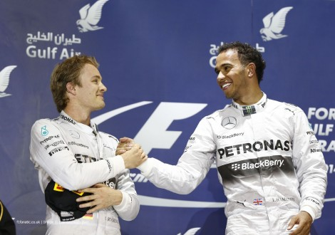 Nico Rosberg, Lewis Hamilton, Mercedes, Bahrain International Circuit, 2014