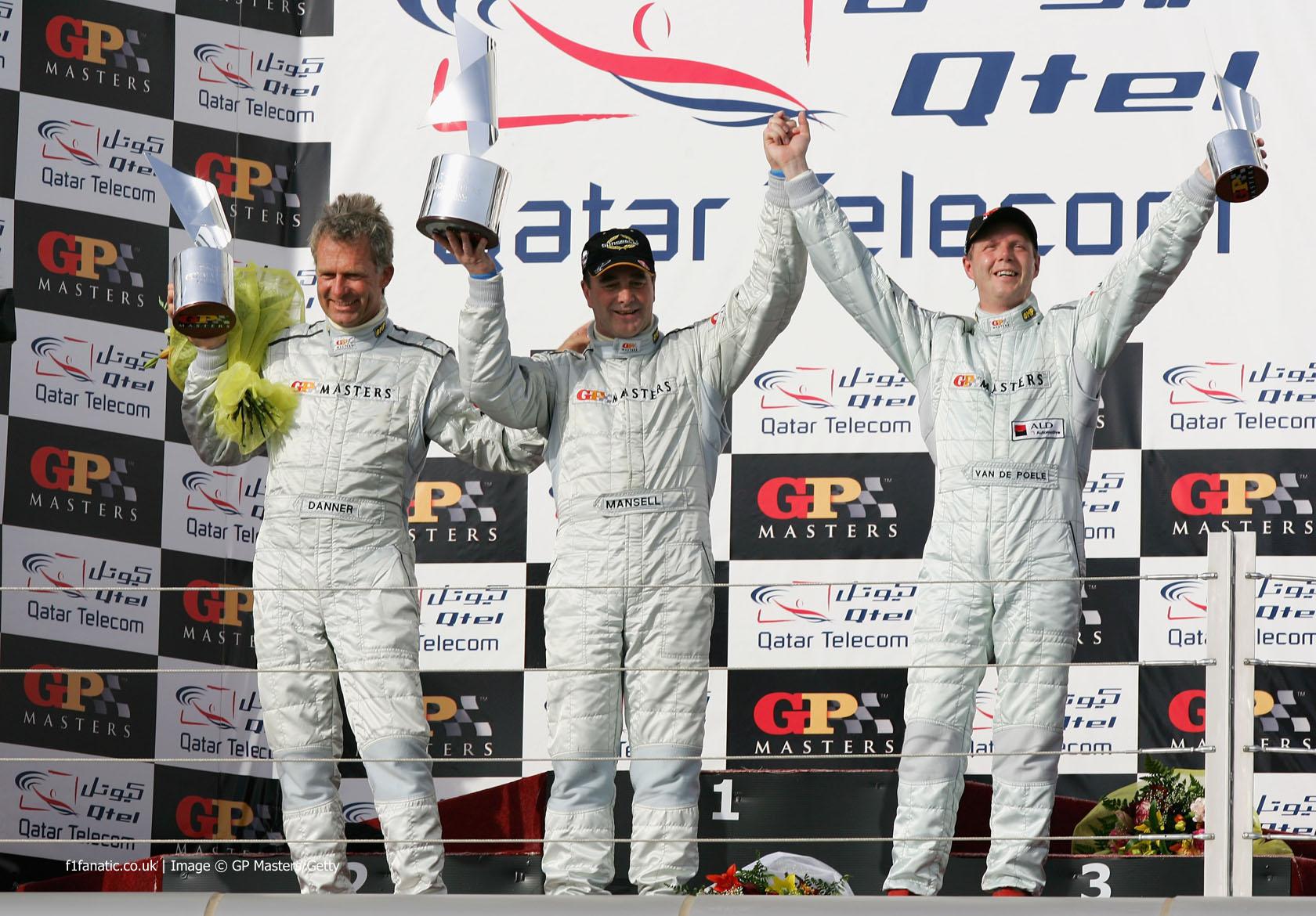 Christian Danner, Nigel Mansell, Eric van de Poele, GP Masters, Losail International Circuit, 2006