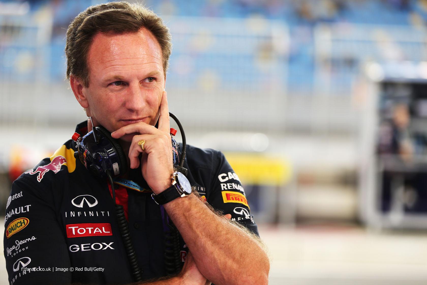 Christian Horner, Red Bull, Bahrain, 2014