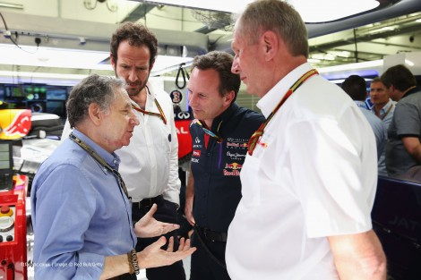 Jean Todt, Christian Horner, Helmut Marko, Bahrain International Circuit, 2014
