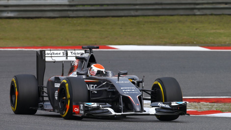 Adrian Sutil, Sauber, Shanghai International Circuit, 2014