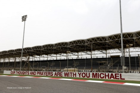 Tribute to Michael Schumacher, Bahrain International Circuit, 2014